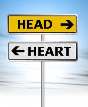head-vs-heart sign