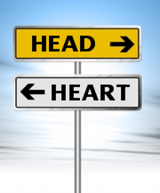 head-vs-heart sign